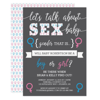 Gender Reveal Invitation, Let's Talk About Gender Invitation