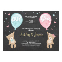 Gender reveal invitation Teddy bears Boy or Girl
