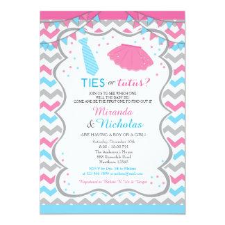 Gender Reveal Invitation / Ties Or Tutus Invite