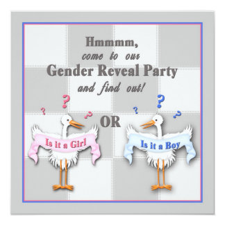 GENDER REVEAL INVITATIONS - IS IT A BOY OR GIRL