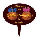 Gender Reveal Little Pumpkins Cake Topper