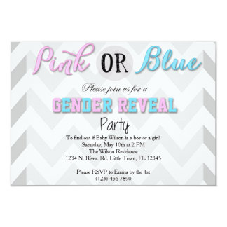Gender Reveal Party 3.5x5 Paper Invitation Card