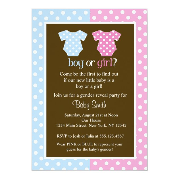 gender reveal baby shower invitations