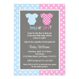 Attractive Gender Reveal Party Baby Shower Invitations