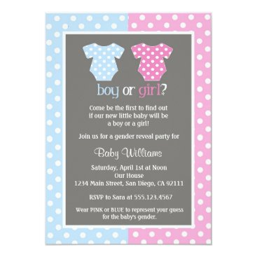 Toddler & Baby themed Gender Reveal Party Baby Shower Invitations