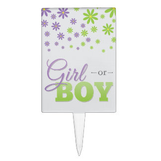 Gender Reveal Party Cake Topper