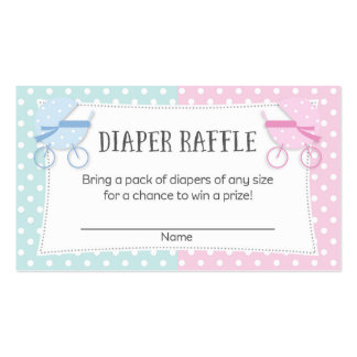 Gender Reveal Party Diaper Raffle Tickets Business Card