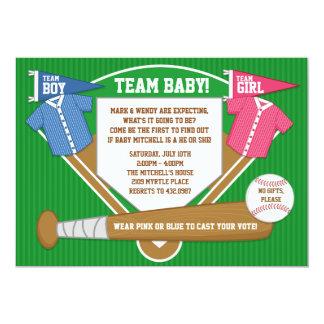 Gender Reveal Party Invitation Baseball Sports