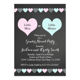 gender reveal party invitations & announcements | zazzle, Party invitations