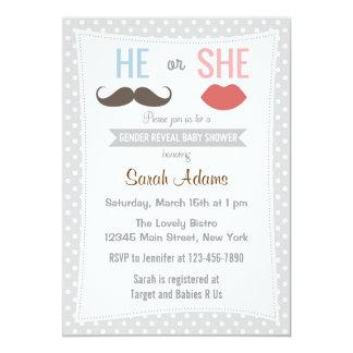 Gender Reveal Party Invitation Kisses Polkadots Invites