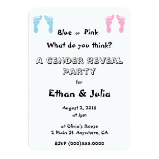 """""""Gender Reveal Party"""" Invitations"""