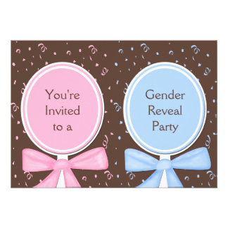 Gender Reveal Party Invitations - Baby Rattles Invitations