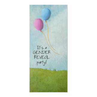 Gender Reveal Party Invitations - Balloons