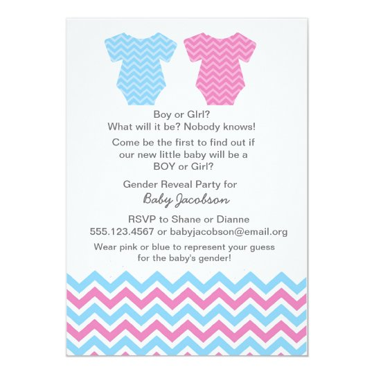 Gender Reveal Party or Baby Shower Invitations