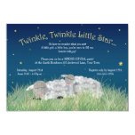Gender Reveal Party Twinkle Little Star Cute Sheep 5x7 Paper Invitation Card
