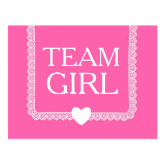 Gender Reveal Pink Team Girl A02 Postcard