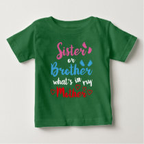 Gender Reveal T Shirt For Kids