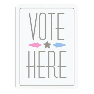 GENDER REVEAL VOTE SIGN-INVITATION