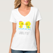 Gender Reveal - Yellow Duck - Waddle It Be T-Shirt