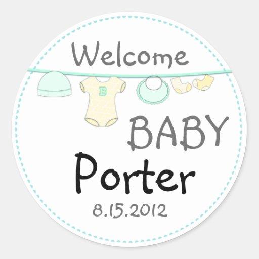 gender surprise baby shower round sticker zazzle