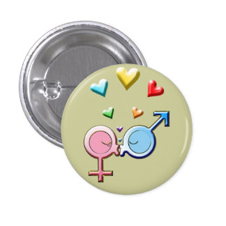 Gender Sweet Kisses Button