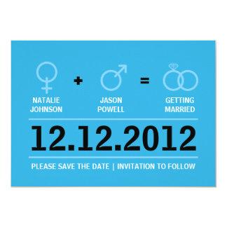 Gender Symbols Male Female Save the Date 5x7 Paper Invitation Card