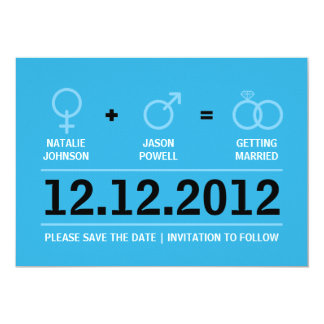 Gender Symbols Male Female Save the Date Card