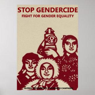 GENDERCIDE: FIGHT FOR GENDER EQUALITY POSTER