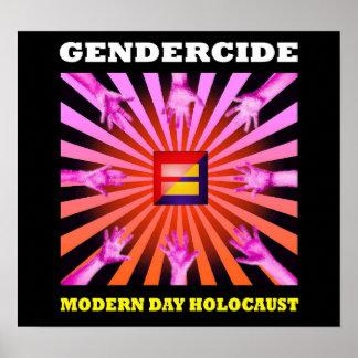Gendercide: modern day holocaust poster