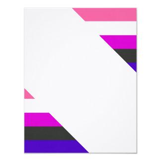 Genderfluid flag personalized announcement