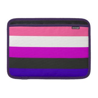 Genderfluid flag MacBook air sleeve