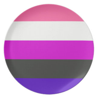 Genderfluid flag melamine plate