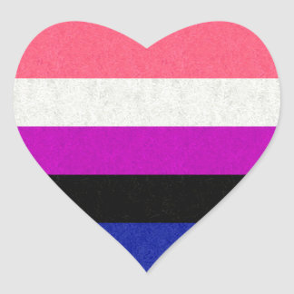 Genderfluid Flag Heart Sticker