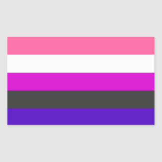 Genderfluid flag rectangular sticker