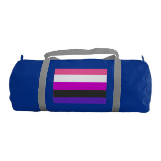 GENDERFLUID PRIDE FLAG GYM DUFFEL BAG