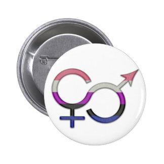 Genderfluid Symbol 2 Inch Round Button