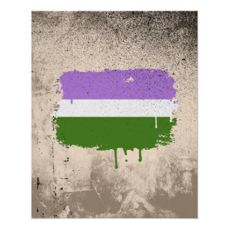 GENDERQUEER FLAG DRIPPING POSTER