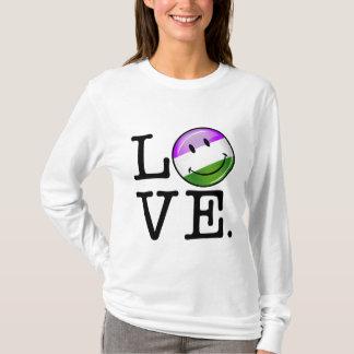 Genderqueer Flag Love T-Shirt