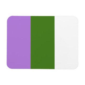Genderqueer flag magnet