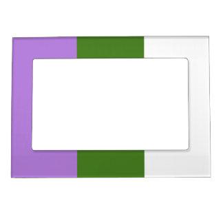 Genderqueer flag magnetic frame