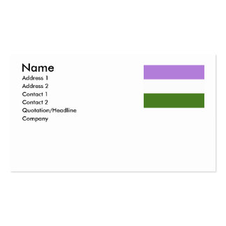 GENDERQUEER FLAG ORIGINAL -.png Double-Sided Standard Business Cards (Pack Of 100)