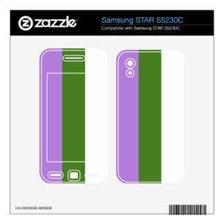 Genderqueer flag samsung STAR S5230C skins