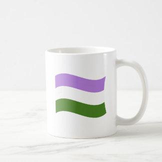 GENDERQUEER FLAG WAVING CLASSIC WHITE COFFEE MUG