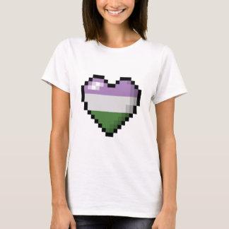 Genderqueer Pixel Heart T-Shirt