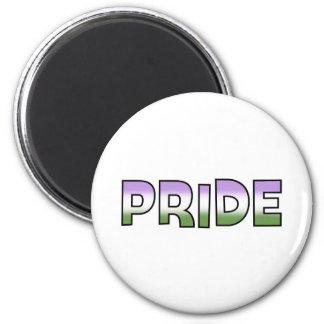 Genderqueer Pride 2 Inch Round Magnet
