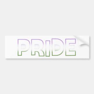 Genderqueer Pride Bumper Sticker