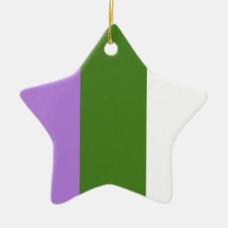 Genderqueer pride flag ceramic ornament