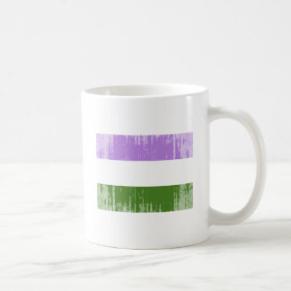 GENDERQUEER PRIDE FLAG -Distressed Classic White Coffee Mug