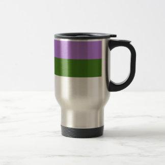 Genderqueer pride flag 15 oz stainless steel travel mug