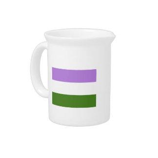 Genderqueer Pride Flag Pitcher